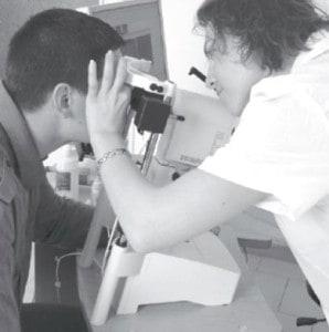 Изследване ефекта на Ентан върху съдовете в преден очен сегмент чрез ин виво конфокална микроскопия