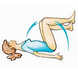 Свиване на коленете от легнало положение