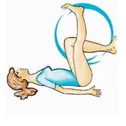 Разнопосочно движение на краката от легнало положение